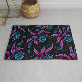 Queen of the Night - Black Purple Rug