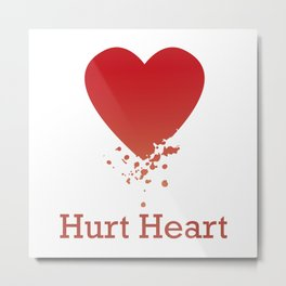 Hurt Heart. For lonely hearts Metal Print