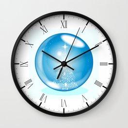 Snowing Ball Wall Clock