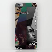 grace iPhone & iPod Skins featuring Grace by Galvanise The Dog