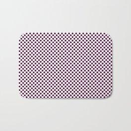 Blackberry Polka Dots Bath Mat