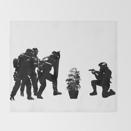 Police brutality coming up Throw Blanket