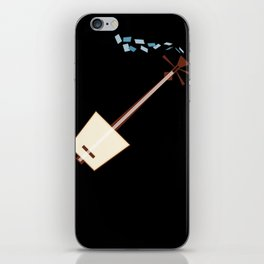 While My Shamisen Gently Weeps iPhone Skin