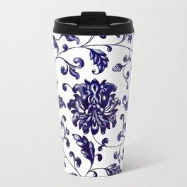 Chinese Floral Pattern Travel Mug