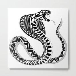 black king cobra pattern ecopop Metal Print