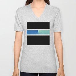 Team Colors 3...blue, aqua Unisex V-Neck