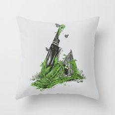 Silent Decay Throw Pillow