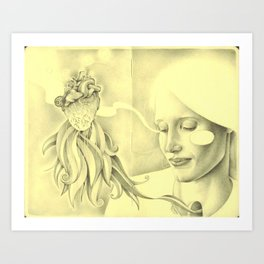 And that moment was all that is. Art Print
