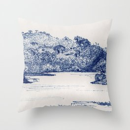 Olifants River, Balule, South Africa Throw Pillow