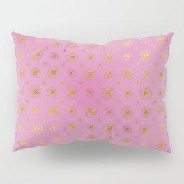 Golden Star Burst Passion Pink Pillow Sham