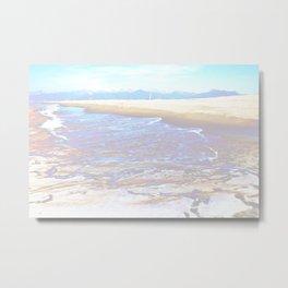 mountain+sea Metal Print
