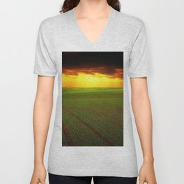 Late Summer New England Sunset Unisex V-Neck