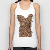 yorkie Tank Tops featuring Cute Yorkie by ArtLovePassion