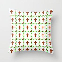 Christian Cross 46 Throw Pillow