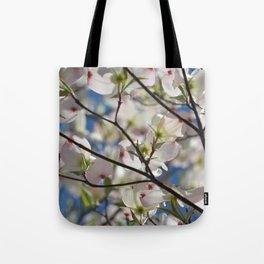 White Dogwood Tree Tote Bag