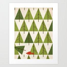 Justa Beaver.  Art Print