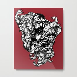 Horror Doodle Metal Print