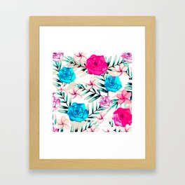 Elegant Watercolor Floral Art Framed Art Print