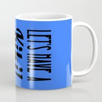 kiki Mugs featuring Let's Have A Kiki! by Alli Vanes