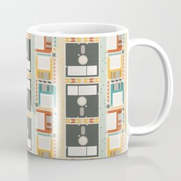 Retro Computer Floppy Disc Pattern Coffee Mug