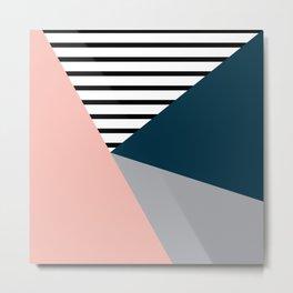 Five colors geometry Metal Print
