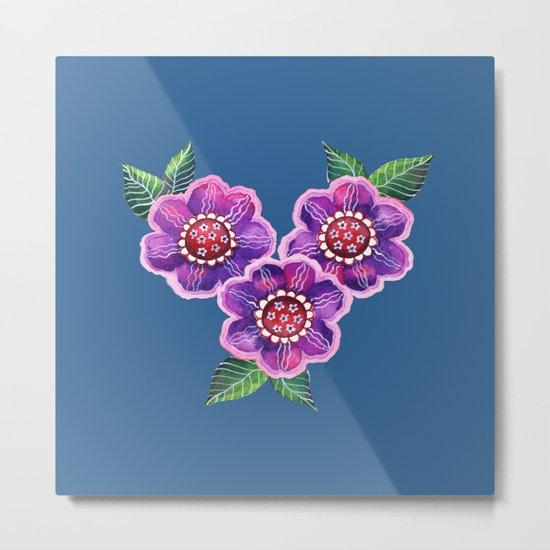 Purple Flowers I Metal Print