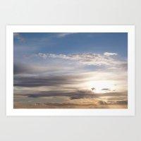 Scottish sunset Art Print