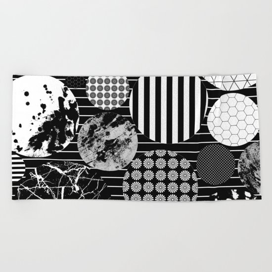 Eclectic Circles II Beach Towel