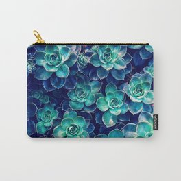 Plants of Blue And Green Carry-All Pouch