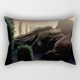 Succulent Desert Sunrise  Rectangular Pillow