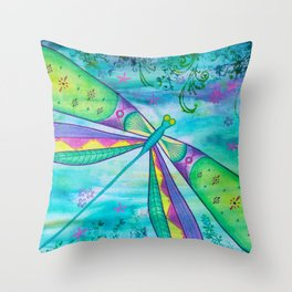 Dragonfly III Throw Pillow
