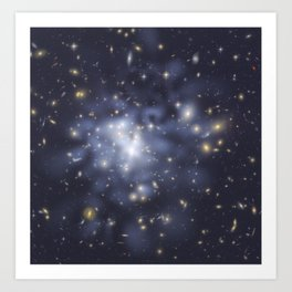 Hubble Space Telescope - Hubble helps astronomers map dark matter in Abell 1689 Art Print