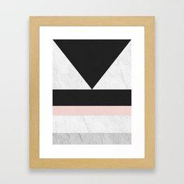 Modern marble geometry V Framed Art Print