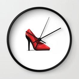 High Heel Emoji  Wall Clock