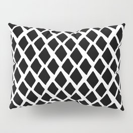 Rhombus Black And White Pillow Sham