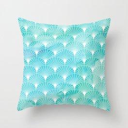Mermaid Fans: Maldives Sea Throw Pillow