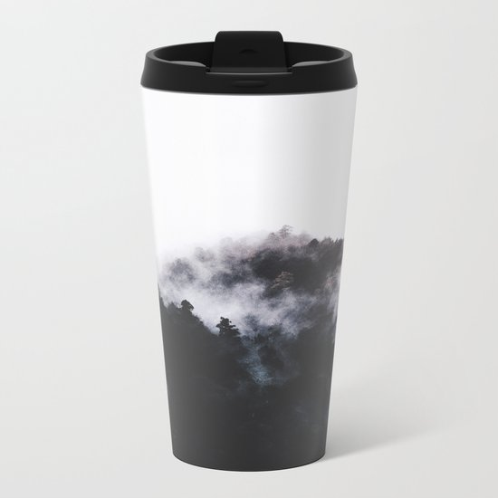 Scandinavian Forest Metal Travel Mug
