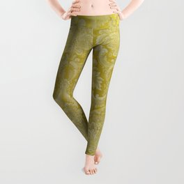 French silk yellow Leggings