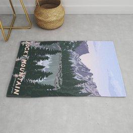 Rocky Mountain National Park Poster, Colorado, USA, Denver, Rocky Mountains, National Parks Rug