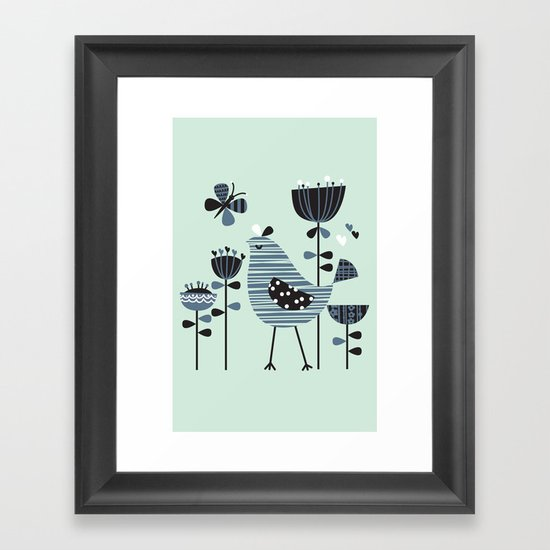 Chirpy Chirp Tweet Framed Art Print