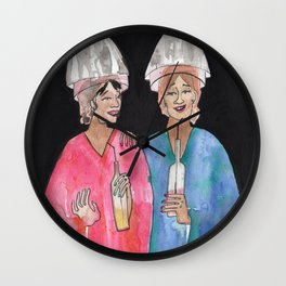 Sipping Salon Gossip Wall Clock