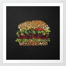Burger. Art Print