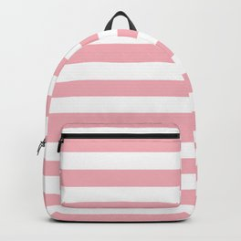Horizontal Coral Stripes Pattern Backpack