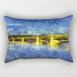 Margaret Bridge Budapest Van Goth Rectangular Pillow