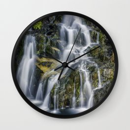 Aqua Waterfall Wall Clock