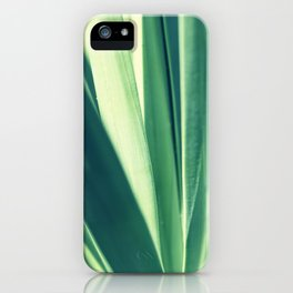 Beautiful green leaves iPhone Case