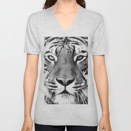 Tiger, Animal, Scandinavian, Minimal, Trendy decor, Interior, Wall art Art Unisex V-Neck