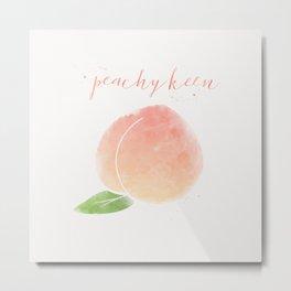 Peachy Keen Metal Print