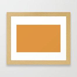 color butterscotch Framed Art Print