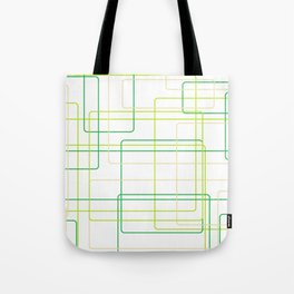 Green Line Pattern Tote Bag